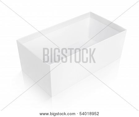 Open Shoe Box Isolated On White