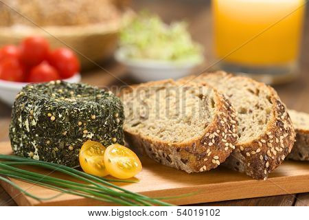 Goat Cheese and Wholegrain Bread
