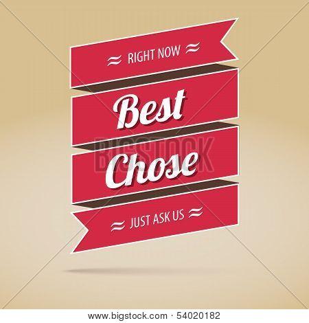 Best chose poster,  vector illustration