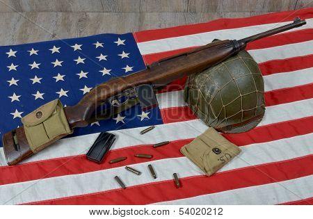 Usm1 Carbine With Military Helmet