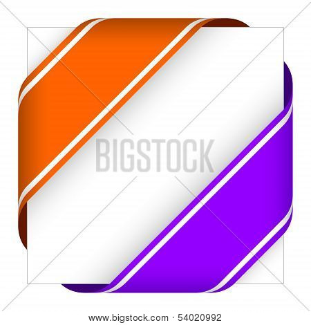 Orange And Purple Christmas Corner Ribbons