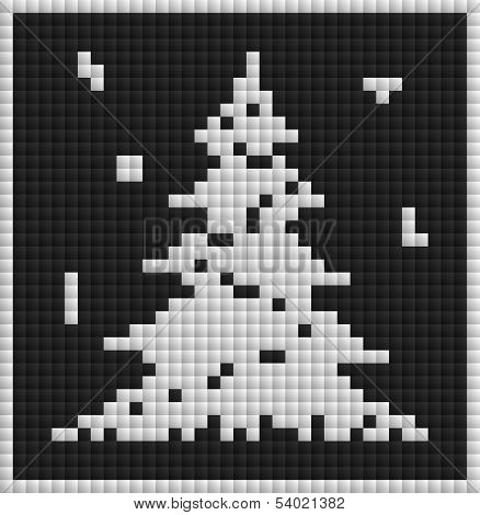 White Christmas Card With Tree