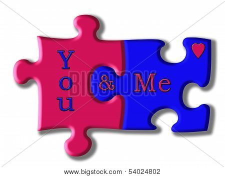 You And Me, A Perfect Jigsaw Fit
