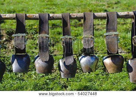 group of cow bells