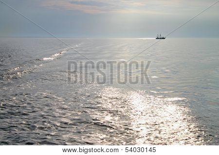 Setting Sun at Sea