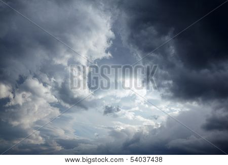 Dark storm clouds background