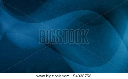 Geometric pattern of semitransparent overlying wave shapes, textured background in shades of blue.