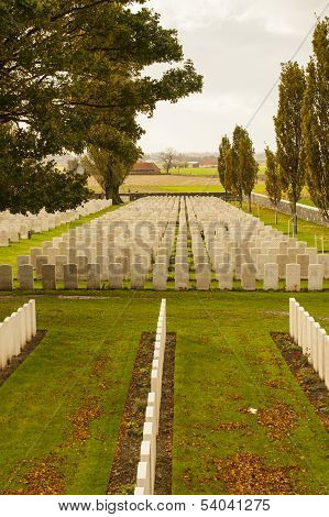 Tyne Cot Cemetery In Ypres World War Belgium Flanders