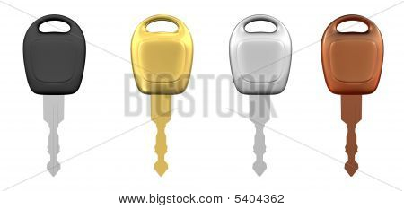 Metal Car Keys Isolated