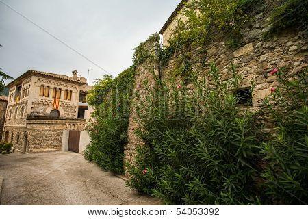 Street in Besalu town, Spain