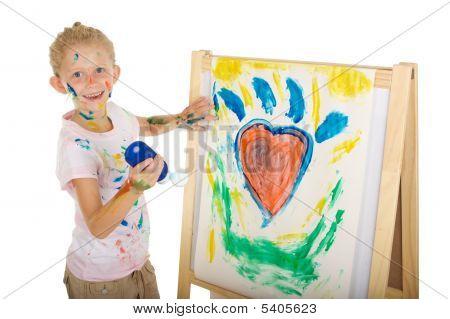 Постер, плакат: Девушка Живопись, холст на подрамнике