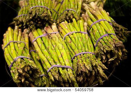 Fresh Green Asparagus Bundles