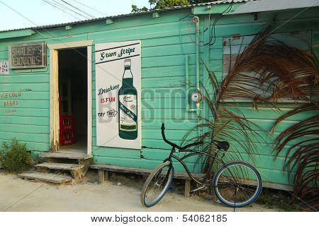 Local shop in Caye Caulker, Belize