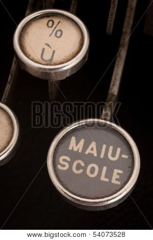 Vintage Typewriter Caps Key