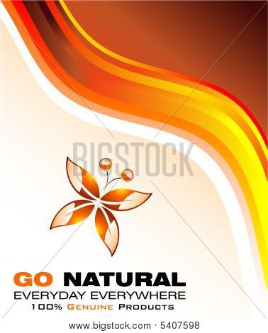 Go Green Environment Card with high contrast colors