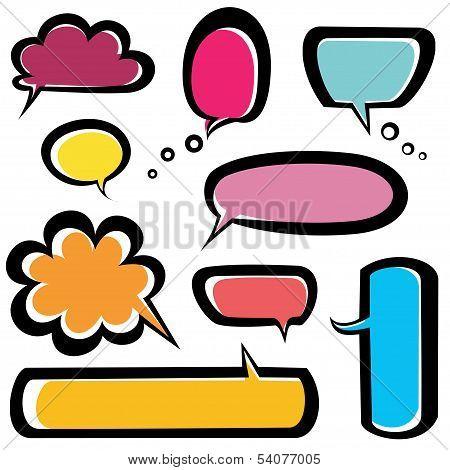Speech Bubbles Icons Set