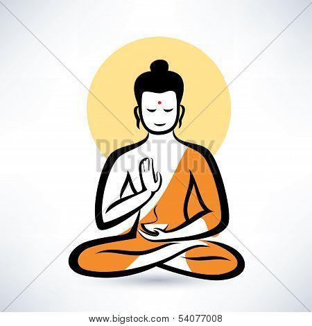 Buddha Vector Symbol