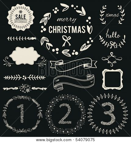 Christmas Hand Drawn Vector Set