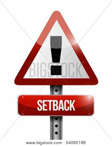 Setback Warning Road Sign Illustration Design