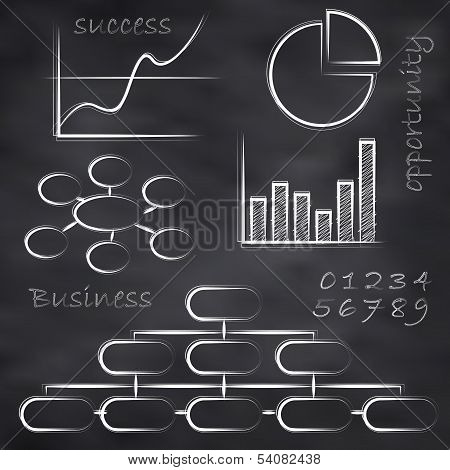 Vector Business Blackboard