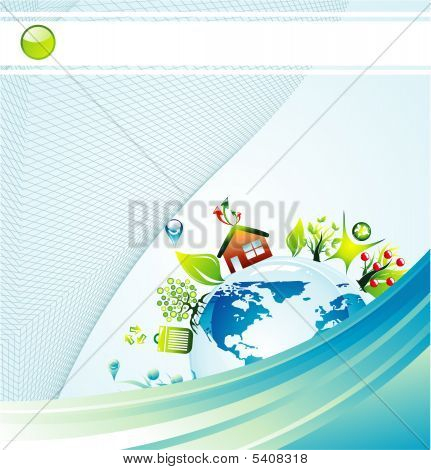 Environmetal Concept Background with High Contrast colors