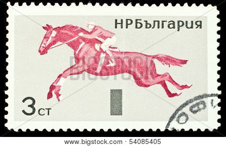 Bulgaria Stamp With Horse Riding