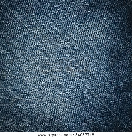 Texture Of Blue Jeans  Close Up