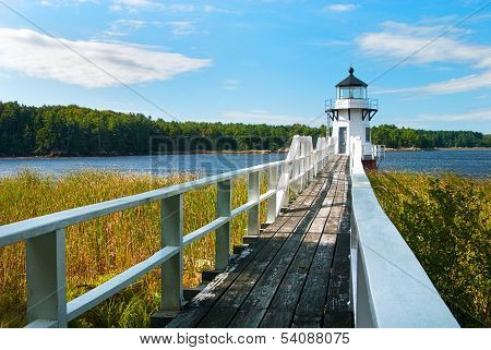 Boothbay's Doubling Point Lighthouse in Maine