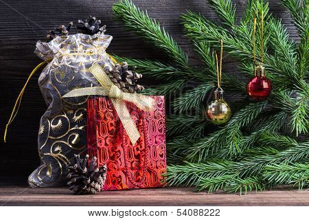 Composition With Christmas Decorations