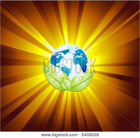 Earth Light Abstract Background