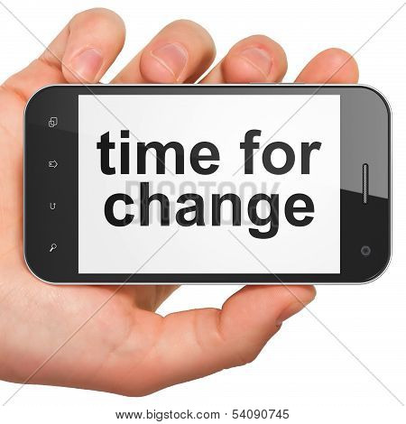 Time concept: Time for Change on smartphone