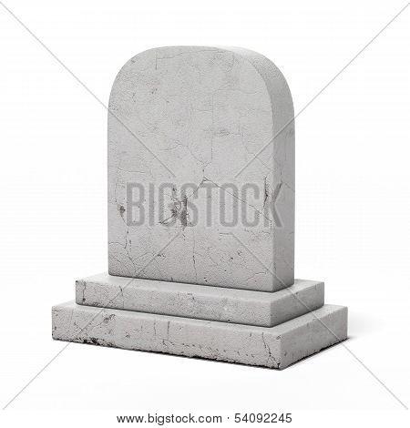 Blank gravestone