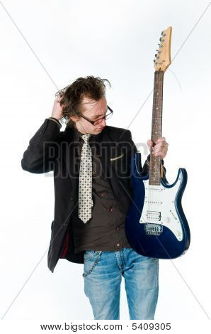 Man With Electro Guitar