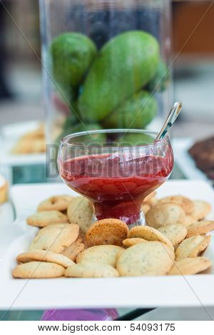 Cookies With Jam And Avocadoes