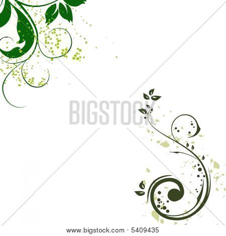 GREEN BLACK FLORAL BACKGROUND