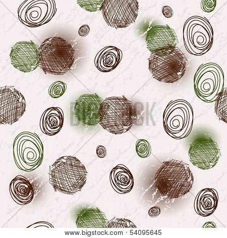 Seamless Spotty Grungy Pattern