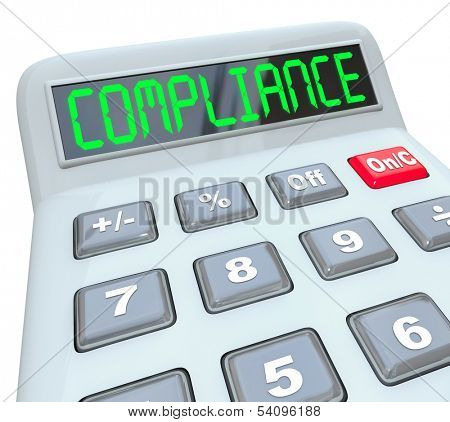 Compliance Calculator Financial Audit Regulations Rules