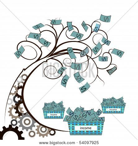 Money Tree With Gear