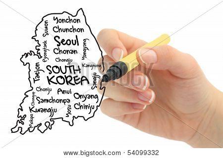 Word cloud for Korea