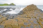 Dramatic View Of Basalt Columns On The Coast