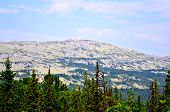 pic of ural mountains  - One of the elevations of the mountain range Kvarkush in the Ural Mountains - JPG
