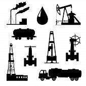 foto of petroleum  - Vector illustration the oil and petroleum icon set - JPG