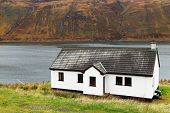 Traditional house on Skye Island, Scotland, Great Britain, Europe