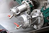 picture of vacuum pump  - Industrial details of new sewage truck equipment valves - JPG