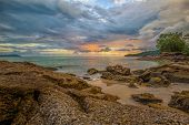 foto of langkawi  - Sunset over a beach on Langkawi island - JPG