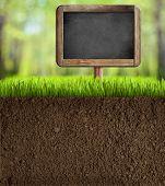 pic of underworld  - soil in garden with blackboard sign - JPG