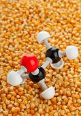 picture of ethanol  - Ethanol chemical model on corn kernels  - JPG