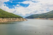 image of hydro-electric  - Hydro Power Electric Dam landscape in Tak Thailand - JPG