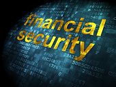 Safety concept: Financial Security on digital background