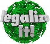 Legalize It Marijuana Leaf Ball Medicinal Vote